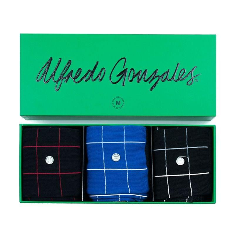 Afbeelding van Alfredo Gonzales sokken check 3 pack giftbox unisex