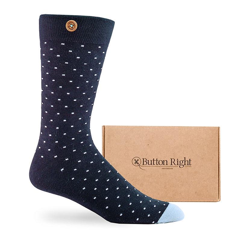 Afbeelding van Button Right sokken charlie mason unisex