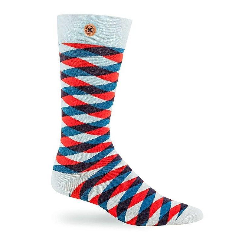 Afbeelding van Button Right sokken chester heren