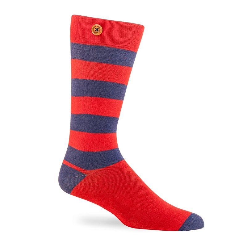 Afbeelding van Button Right sokken james heren