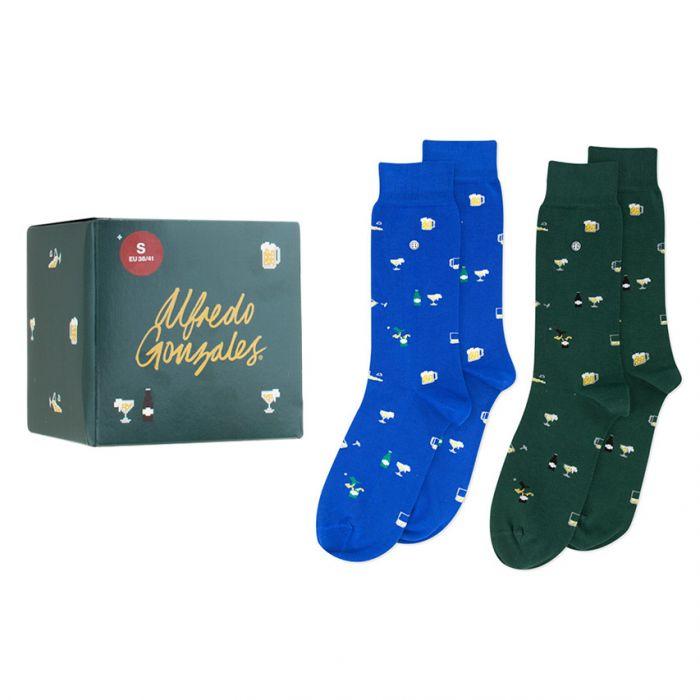 vaderdag beer 2-pack giftbox blauw & groen