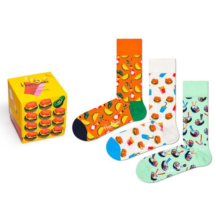 happy socks food lover giftbox 3-pack multi
