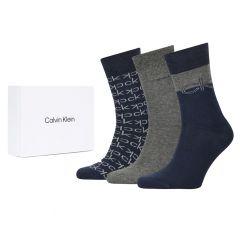multi logo dress 3-pack giftbox blauw & grijs