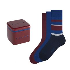 happy box 3-pack stripe solid blauw & rood