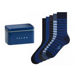 happy box 5-pack stripe solid blauw & zwart