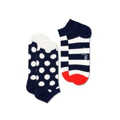 sneaker 2-pack big dot stripe blauw & wit