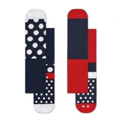 kids anti-slip 2-pack big dot blauw