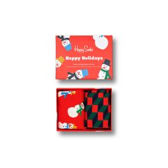 snowman giftbox 2-pack multi
