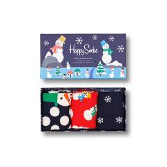 snowman giftbox 3-pack multi