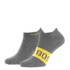 boss logo sneaker 2-pack grijs & geel