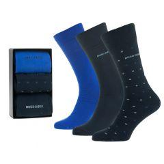 gift set 3-pack dots II blauw