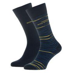 stripes logo 2-pack blauw