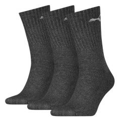 cushioned 3-pack logo antraciet grijs