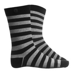 plain stripe zwart & grijs