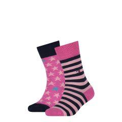 kids stars & stripes 2-pack roze