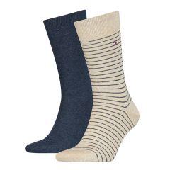 small stripe 2-pack blauw & beige II