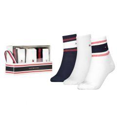 dames short sock rib sporty giftbox 3-pack multi