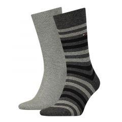 duo stripe 2-pack grijs