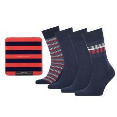 giftbox 4-pack tin stripe blauw II