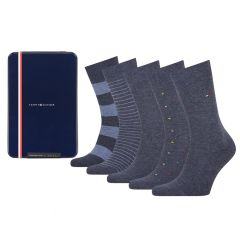 giftbox 5-pack tin stripe blauw II