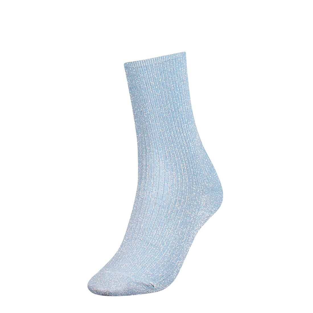 Afbeelding van Sale: Tommy Hilfiger sokken dames glitter blauw